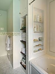 bathtub with storage niches put in a few niches between the studs for shampoo