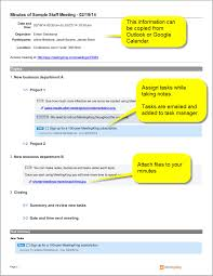 Sample Meeting Notes Sample Staff Meeting Minutes Template