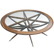 spider leg round coffee table transitional mid century modern cocktail tables hall glass brass nz