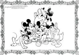 Mickey Mouse Clubhouse Birthday Coloring Pages Mickey Mouse