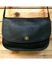 Vintage Coach City Bag Vtg Black Leather SmallMedium Satchel Messenger  Crossbody Turnlock Purse 9790