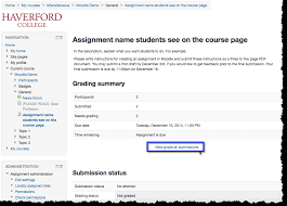 collect and grade submissions online using the assignment activity illustration of screen after opening assignment link