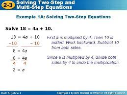 3 multistep equations objective