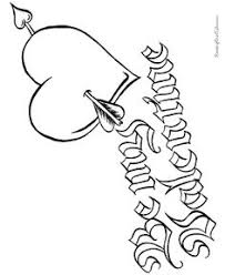 valentine coloring page heart and arrow