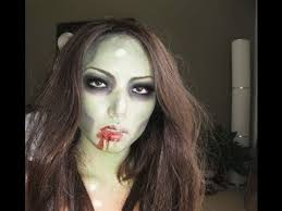 how to create a simple y zombie makeup look for
