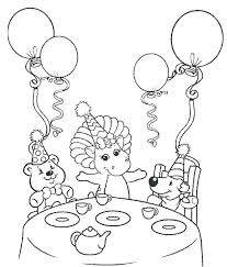 Coloring Pages Barney Happy Birthday Coloring Barney Happy Birthday