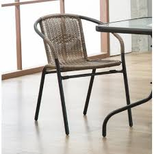 bemadette rattan patio dining chair