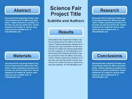Science Fair Templates Science Project Poster Template Scientific Download Fair Templates