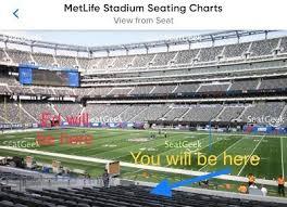 Ed Sheeran Metlife Stadium Seating Chart 2 Ed Sheeran Tickets Metlife Lower Sat 9 22 7pm Sec 135 Row