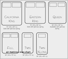Box Spring Size Chart Beautiful 25 Air Mattress Sizes Chart