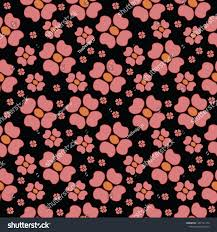 Repeats In Textile Designing Repeat Flower Seemless Pattern Textile Design Stock Vector