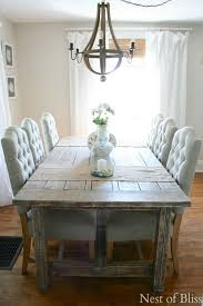 coastal farmhouse dining room love the plush chairs with the rustic table