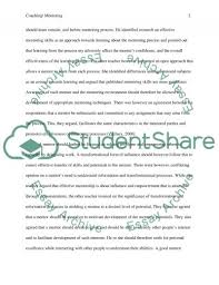 coach or mentoring reflection essay example topics and well  coach or mentoring reflection essay example