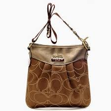 Coach Swingpack In Signature Medium Khaki Crossbody Bags OA20