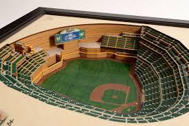 Milwaukee Brewers Miller Park 3d Wood Stadium Replica 3d Wood Maps Bella Maps