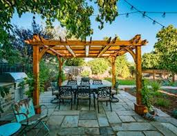 patio cover wood. Wood Pergola, Outdoor Dining Pergola And Patio Cover Greener Environments Los Osos, CA