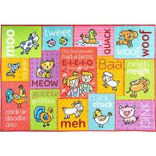 kc cubs multi color kids children bedroom old mcdonald s farm animal sounds learning game 8