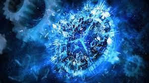 Widescreen Blue Clock Abstract Hd ...