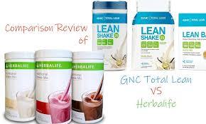 parison review of herbalife vs gnc total lean shake their benefits