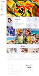 Art Portfolio Website Design Artists Portfolio Website Template Themes Business