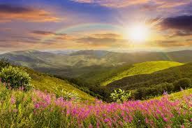 Glass Wall Art Acrylic Daydream Sun Rainbow And Beautiful Nature