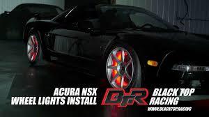 acura nsx 1991 black. oracle lighting wheel light install 1991 acura nsx black top racing nsx