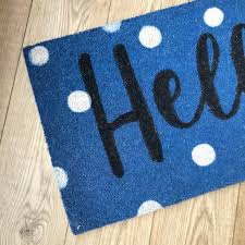Hello Spotty Doormat – lilylovesshopping