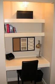 Small built in desk in closet