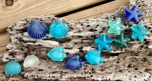 Items similar to Sea Glass Knobs Cabinet Pulls Kitchen Bathroom