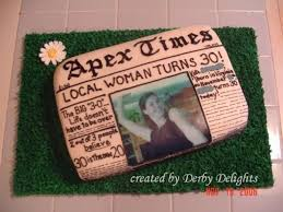 Newspaper 30th Birthday Cake Cakecentralcom