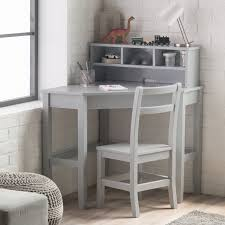 kid desk furniture. classic playtime juvenile corner desk and reversible hutch with chair gray alz1202 kid furniture o