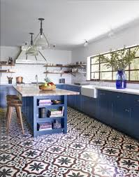 Tiles In Kitchen Granada Tiles Sofia Cement Tiles In Kitchen By Commune In Elle