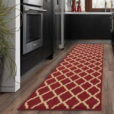 ottohome collection contemporary moroccan trellis design dark red