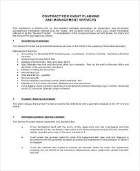 Event Planning Services Agreement Event Planner Contract Sample 14 Examples In Word Pdf