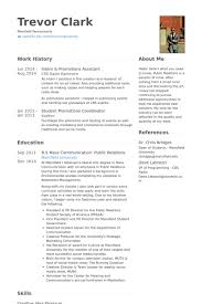 Promotions Assistant Resume Samples Visualcv Resume Samples Database