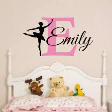>custom baby girls name wall sticker ballerina wall decal  custom baby girls name wall sticker ballerina wall decal personalized girls bedroom wall art