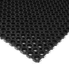 commercial kitchen mats. Rubber-Cal Dura-Chef Octagon 39 In. X 59 Black Rubber Commercial Kitchen Mats B