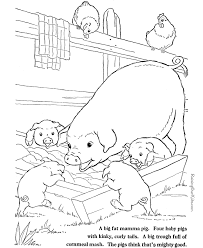 Small Picture Farm Animal coloring pages Pigs to print and color 003