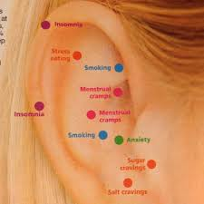 Ear Piercing Chart For Anxiety Acupressure Points On Your Ear Via Womans World Magazine