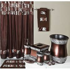 elite sequined bronze shower curtain and bath accessories bedbathhome com