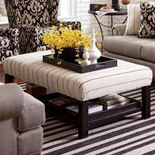 Upholstered Coffee Table Diy Craftmaster Ottoman Storage Bench Ottoman With 3 Storage Trays