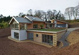 contemporary part earth sheltered split level house truro cornwallsuper  insulated timber frame sustainable build utilising recycled insulation |  Pinterest ...