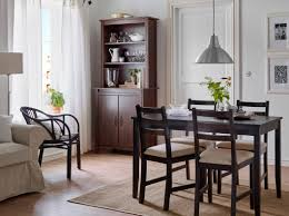 small dining room chairs. Dark Brown Wooden Four Bar Stool Ikea Dining Room Chairs Small Wood Vintage Sillver Chromed Metal Frame White Wall Decorations Rectangle Curved E