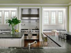 custom kitchen island ideas. Double Kitchen Islands Topped With Waterfall Countertops Custom Island Ideas N