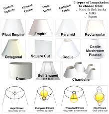 types of lamp shades harp style lamp shades lamp shade styles types of shades home design