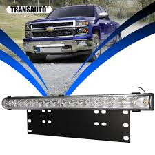 Suv Light Bar Us 31 27 25 Off 20 Inch 10800lm Spot Flood Led Light Bar With Universal License Plate Frame Mounting Bracket Kit For Truck Car Atv Suv 4x4 Jeep In