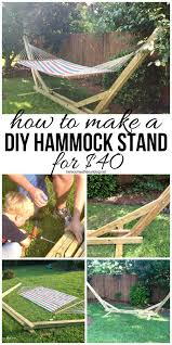 make your own diy hammock stand for 40 bucks this is the perfect weekend project