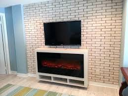 amantii bi 50 electric fireplace in black glass mounted in a custom 50 electric fireplace 50