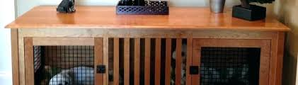 wooden dog crate furniture. Dog Crate Furniture Wooden Double .