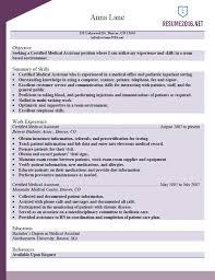Medical Assistant Resume Sample   Resume Templates
